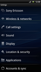 Sony Xperia Neo V - Internet - Manual configuration - Step 4