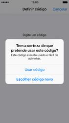Apple iPhone SE iOS 10 - Segurança - Como ativar o código de bloqueio do ecrã -  8