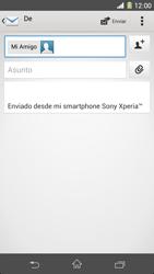 Sony Xperia Z1 - E-mail - Escribir y enviar un correo electrónico - Paso 8