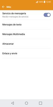 LG Q6 - Mensajería - Configurar el equipo para mensajes de texto - Paso 6