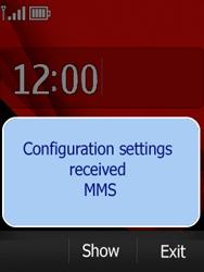 Nokia Asha 300 - Settings - Configuration message received - Step 3