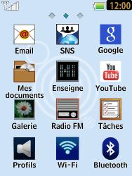 LG T385 - Internet et connexion - Accéder au réseau Wi-Fi - Étape 3