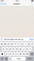 Apple iPhone 6 iOS 9 - WhatsApp - Verstuur een tekstbericht met WhatsApp - Stap 8