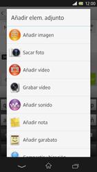 Sony Xperia Z - Mensajería - Escribir y enviar un mensaje multimedia - Paso 14
