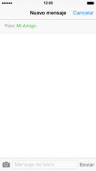 Apple iPhone 5s - Mensajería - Escribir y enviar un mensaje multimedia - Paso 7