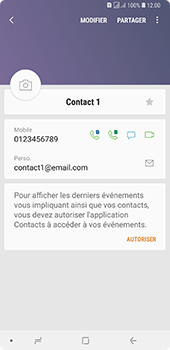 Samsung Galaxy A7 2018 - Contact, Appels, SMS/MMS - Ajouter un contact - Étape 14