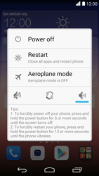 Huawei Ascend P7 - Device maintenance - Soft reset (forced reboot) - Step 3