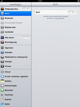 Apple iPad mini - Internet - Handmatig instellen - Stap 2