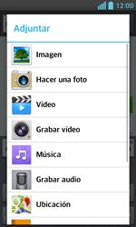 LG Optimus L5 II - Mensajería - Escribir y enviar un mensaje multimedia - Paso 14
