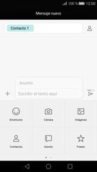 Huawei P8 - Mensajería - Escribir y enviar un mensaje multimedia - Paso 9