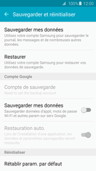 Samsung G920F Galaxy S6 - Appareil - Réinitialisation de la configuration d