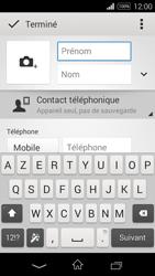 Sony Xpéria E3 - Contact, Appels, SMS/MMS - Ajouter un contact - Étape 8