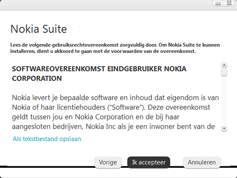 Nokia Asha 300 - Software - Download en installeer PC synchronisatie software - Stap 3