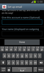 Samsung I8260 Galaxy Core - E-mail - Manual configuration - Step 20