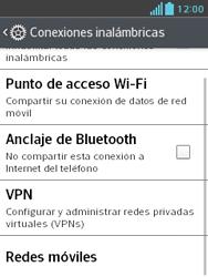 LG Optimus L3 II - Mensajería - Configurar el equipo para mensajes multimedia - Paso 5