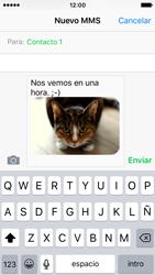 Apple iPhone SE - Mensajería - Escribir y enviar un mensaje multimedia - Paso 13
