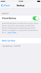 Apple iPhone 5c iOS 10 - Device maintenance - Create a backup of your data - Step 13
