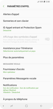 Samsung Galaxy S9 Plus - Messagerie vocale - Configuration manuelle - Étape 6