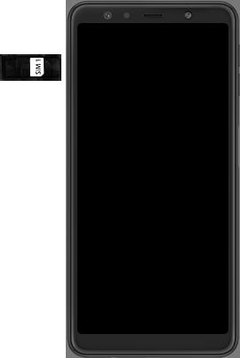 Samsung Galaxy A7 (2018) - Toestel - simkaart plaatsen - Stap 4