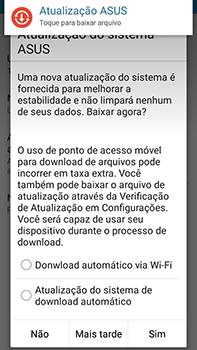 Asus Zenfone Go - Funções básicas - Como atualizar o software do seu aparelho - Etapa 8