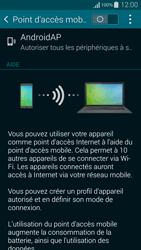 Samsung Galaxy Alpha - Internet et connexion - Partager votre connexion en Wi-Fi - Étape 10