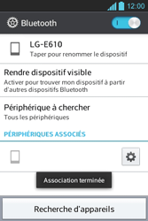 LG E610 Optimus L5 - Bluetooth - connexion Bluetooth - Étape 11