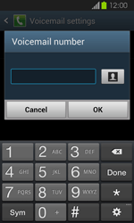 Samsung I8730 Galaxy Express - Voicemail - Manual configuration - Step 8