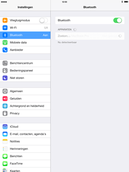 Apple iPad 4th generation (Retina) met iOS 7 - Bluetooth - Aanzetten - Stap 4