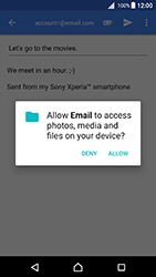 Sony Xperia X - Android Nougat - Email - Sending an email message - Step 11