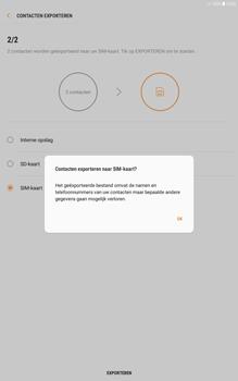 Samsung galaxy-tab-a-10-1-android-oreo - Contacten en data - Contacten kopiëren van toestel naar SIM - Stap 12