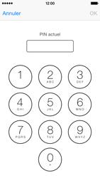 Apple iPhone 5s (iOS 8) - Sécuriser votre mobile - Personnaliser le code PIN de votre carte SIM - Étape 6