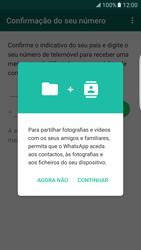 Samsung Galaxy S7 Edge - Aplicações - Como configurar o WhatsApp -  7
