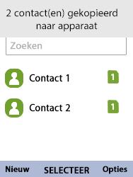 Nokia 8110-ta-1071 - Contacten en data - Contacten kopiëren van SIM naar toestel - Stap 10