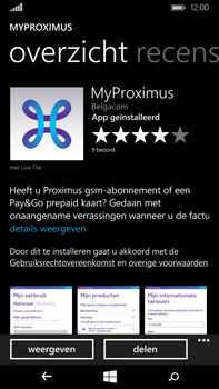 Microsoft Lumia 640 XL - Applicaties - MyProximus - Stap 9