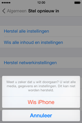 Apple iPhone 4 S - iOS 7 - toestel resetten - fabrieksinstellingen terugzetten - stap 7