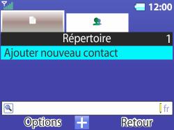 Bouygues Telecom Bc 311 - Contact, Appels, SMS/MMS - Ajouter un contact - Étape 4