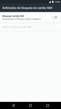 Huawei Google Nexus 6P - Segurança - Como ativar o código PIN do cartão de telemóvel -  6