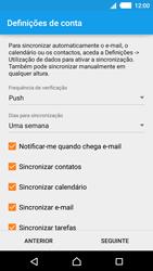Sony Xperia M4 Aqua - Email - Adicionar conta de email -  8