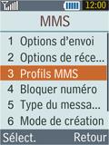 Samsung B2100 Xplorer - Mms - Configuration manuelle - Étape 6