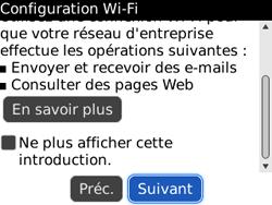 BlackBerry 8520 - Internet et connexion - Accéder au réseau Wi-Fi - Étape 5