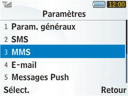 Samsung S3350 Chat 335 - MMS - configuration manuelle - Étape 15