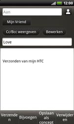 HTC S510b Rhyme - E-mail - Hoe te versturen - Stap 9