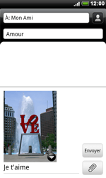 HTC S510e Desire S - MMS - envoi d'images - Étape 11
