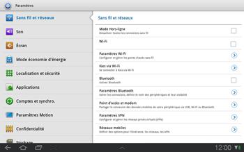 Samsung P7500 Galaxy Tab 10-1 - Internet - Configuration manuelle - Étape 4