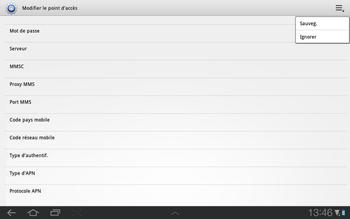 Samsung P7500 Galaxy Tab 10-1 - Internet - Configuration manuelle - Étape 9