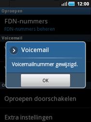 Samsung S5570 Galaxy Mini - Voicemail - handmatig instellen - Stap 8