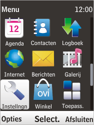 Nokia 6303i classic - MMS - handmatig instellen - Stap 3
