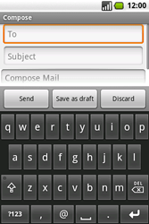 Samsung I7500 Galaxy - E-mail - Sending emails - Step 6