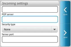 HTC A810e ChaCha - E-mail - Manual configuration - Step 7