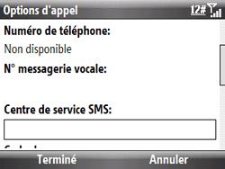 HTC S521 Snap - SMS - Configuration manuelle - Étape 7